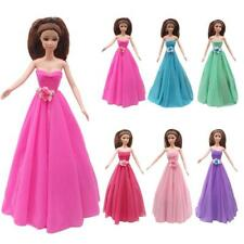 Handmade Dress Strapless Wedding Party Gown Fashion Clothes For Barbie Doll