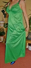 Emerald Green Silky Lacy & Shiny Full Length Bra Slip or Nightgown L-XXL BNWT