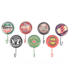 retro metal sign tin beer bottle cap cover hook pub bar club cafe home wall@@