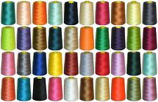 120s SEWING THREAD 100% SPUN POLYESTER 5000 YRDS X4 CONES, VARIOUS COLS, ART NL1