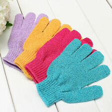 Shower Bath Glove Exfoliating Wash Skin Spa Massage Loofah Body Scrubber  TB