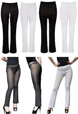 Womens Stretchy Long Pants Leggings Gym Workout Tight Bell-bottom Trousers New