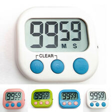 Magnetic Digital for Kitchen Cooking Timer Large LCD Display Clock Loud Alarm