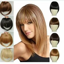 Real Thick Straight Bang Clip in on Fringe Hair Extensions Humans Hairpiece