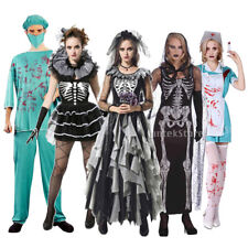 Halloween Party Skeleton Zombie Ghost Bride Nurse Doctor Costume Cosplay Outfits
