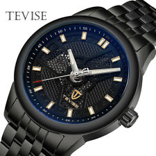 TEVISE Mens Automatic Mechanical Wrist Watch Stainless Steel Luminous Luxury