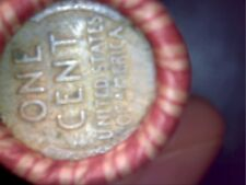 Unsearched Shotgun Penny Roll - 1909 VDB Wheat Cent & IH on Reverse End