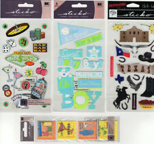 Sticko Scrapbook Stickers Embellishment Pack You Pick Texas Vegas Cocktails Baby