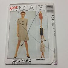 McCall's Sewing Pattern # 7542 Dress, Unlined Jacket, Vest, Skirt Choose Size