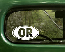 OR OREGON DECAL 2 Oval Stickers For Car Truck Laptop Window Bumper Jeep Boat
