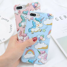 Ultra-thin Pattern Unicorn Hard Skin Case Cover For Apple iPhone 5 6s 7 Plus 8 X