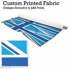 2 BLUE UNION JACKS PER METRE FABRIC LYCRA SATIN JERSEY CHIFFON PRICES FROM£15.99