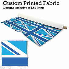 4 BLUE UNION JACKS PER METRE FABRIC LYCRA SATIN JERSEY CHIFFON PRICES FROM£15.99