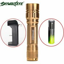 ZOOM 3 Modes Zoomable 15000LM  XML T6 LED Flashlight Torch Lamp 18650BTY+Charger