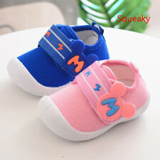 2018 Breathable Infant Baby Shoes Toddler Boy Girls Walking Shoes Casual Squeaky