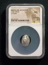 Greek Silver Stater from Island of Aegina, Turtle observe, 525 BC   NGC VG 6007