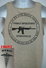 ARMY MEDIC TANK TOP/ AFGHANISTAN COMBAT OPS/  MILITARY TAN / ARMY / NEW