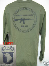 101 AIRBORNE LONG SLEEVE T-SHIRT/ IRAQ COMBAT OPS / MILITARY/ ARMY / NEW