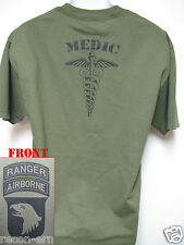 101ST AIRBORNE RANGER T-SHIRT/ MEDIC/ MILITARY/ ARMY/  NEW