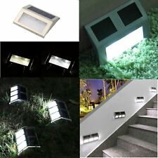 10X 2/6LED Solar Power Path Stair Outdoor Light Garden Fence Landscape Lamp RO