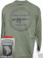 101st AIRBORNE LONG SLEEVE T-SHIRT/ AFGHANISTAN COMBAT OPS / MILITARY/ ARMY/ NEW
