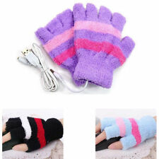 1 Pair USB Heated Gloves Winter Hand Warmer Electric Heating PC Laptop Powered