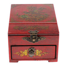 Wooden Oriental Style Mirror Dresser Drawer Chest Case Gift for Kids Friends