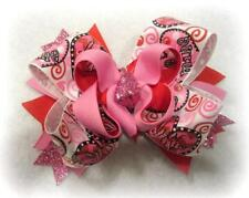 Valentines Day Hair Bow Love Hairbow Boutique stacked Baby Headband Boutique Bow