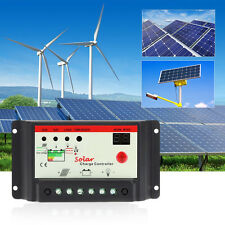 12V 24V 10/20/30A PWM Solar Panel Charge Controller Battery Charge Regulator
