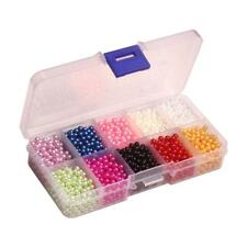 Multi-color Round Pearl Spacer Loose Bead No Hole 3-6mm Jewelry Finding Nail Art