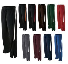 MEN'S BRUSHED POLY/TRICOT WARM UP PANTS, STRAIGHT LEG w/ZIPPERS, POCKETS, XS-3XL