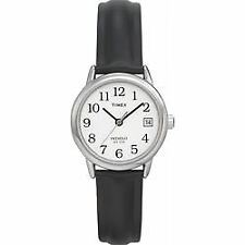 Timex Ladies T2H331 Easy Reader Black Leather Indiglo Traditonal Womens Watch