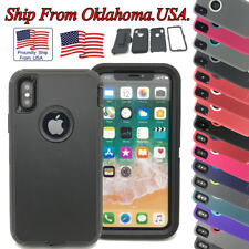 Protective Case Cover For Apple iPhone X 10 Shockproof Hybrid Hard PC Belt Clip