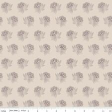 Riley Blake Twig & Grace - Cream Flower Fabric by Riley Blake/Quilting/Patchwork