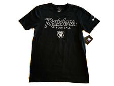 Oakland Raiders NFL Team Script The Nike Tee T Shirt Adult Size S M L XL