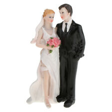 Vintage Wedding Cake Topper Bride Groom Resin Couple Figurine Wedding Favours