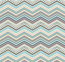 One For The Boys - Chevron Blue Fabric by Riley Blake / Quilting / Patchwork
