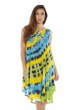 One Size Embroidered Tie Dye Dress