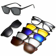 Spectacle Polarized Glasses 5 Frame Pieces With Rx Magnetic Sunglasses Clip-on