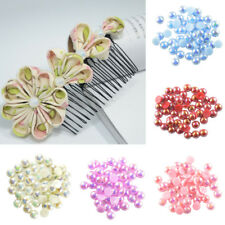 100pcs 8mm Half Round Pearl Bead Flat Back Scrapbooking for Craft Phone Case
