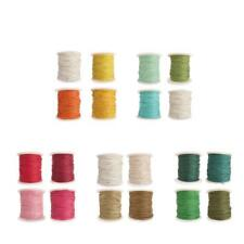 4 Rolls of 80 Meters Waxed Cotton Cord String for DIY Necklace Bracelet 1mm