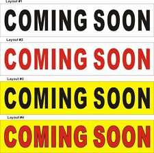 3ftX13ft Custom Printed COMING SOON Banner Sign
