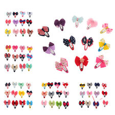 12Pcs Bowknot Hairpin Baby Girls Hair Bow Clips Barrette Hair Accessories Gift