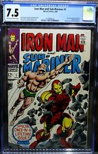 "IRONMAN & SUB-MARINER #1 4/68  Silver Age CGC Graded 7.5 ""Just Graded By CGC"""