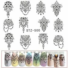 2PC Nail Sticker Water Transfer Stamping Nail Art Tips Nail Decor Manicure Decal