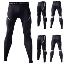Mens Compression Base Layer Leggings Quick Dry Training Pants Trousers Sportwear