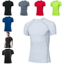 Mens Compression Tights Athletic Base Layers Sports Tops Shirt Quick-dry J1912