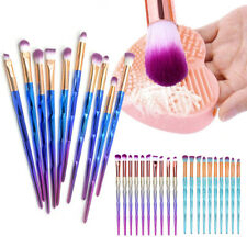 10 PCS Diamond Eyeshadow Eyebrow Blending Brush Set Eye Makeup Cosmetic Brushes