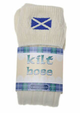 SALTIRE Embroidered KILT HOSE Variety of sizes & colours