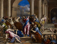 """El Greco : """"Christ Driving Money Changers from Temple"""" (c.1570) — Fine Art Print"""